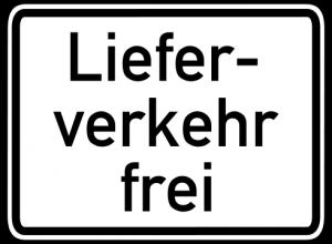 Lieferverkehr frei