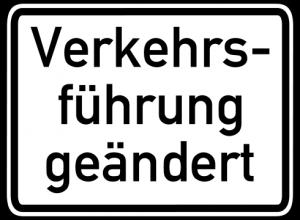 Verkehrsführung geändert